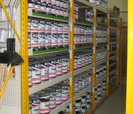Paints, Tins, Varnish, Storage Shelving