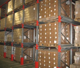 Drive - In Pallet Racking is commonly used when storing a relatively low number of product lines