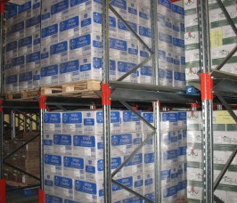 Drive - In Pallet Racking is commonly used in Food production cold chill storage areas