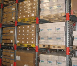 Stakapal Galvanised Pallet Racking for cold, chill Food Production warehouses