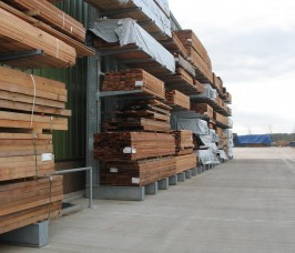 Yard Storage and Display of Carcassing Timber