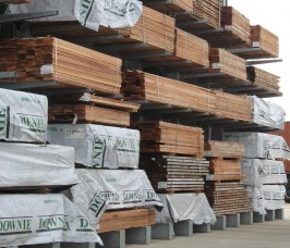 Stakapal Galvanised Cantilever Racks for the external storage of Carcassing Timber stockholding