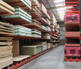 Guided Aisle High Bay Racking for Panel Products