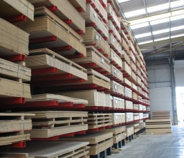 Cantilever Racking offers ease of access to Sheet Materials