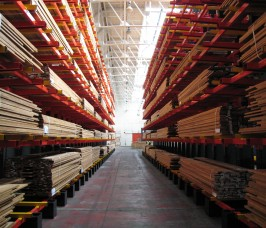 Hardwoods can be stored at high levels maximising the available storage area