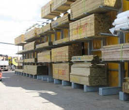Stakapal Galvanised Cantilever Timber Storage