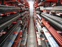 Stakapal Cantilever Racking is ideal for the storage of long lengths of products