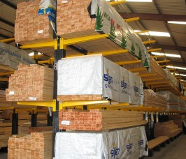 Cantilever Racking offers Storage flexibility for any lengths of Softwood Timber or Hardwood Timber
