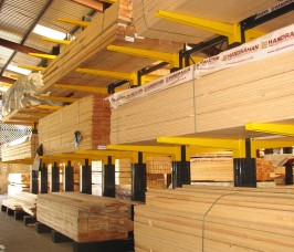 Stakapal Cantilever Racking ensures that damage to stock is reduced as well as improving overall selectivity