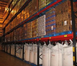 Stakapal Pallet Racking is commonly utilised by Distribution Warehouses stocking a range of Food Ingredients and finished Food Products
