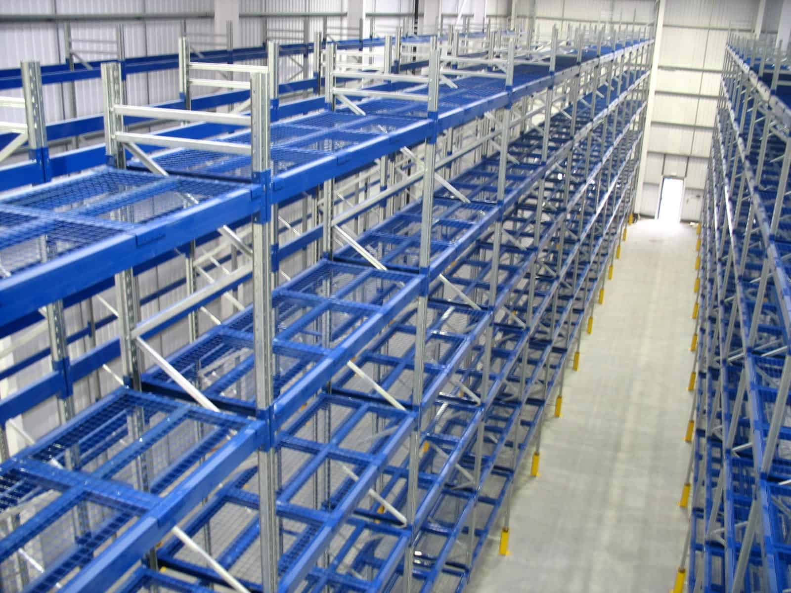 Hardwood Flooring packs can be easily accessed when stored on Stakrak SR2000 Series Pallet Racking