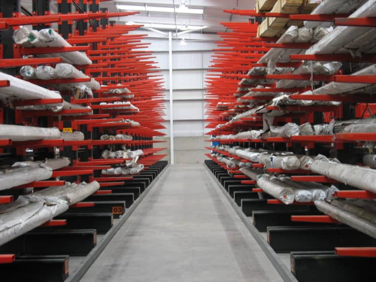 Stakapal Guided Aisle Cantilever Racking for Bar and Tube