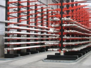 Stakapal Guided Aisle Cantilever Racking improves operational efficiency for metals storage