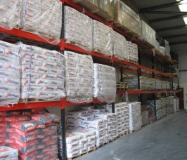 Bagged Building Products stored on Stakrak SR2000 Series Pallet Racking