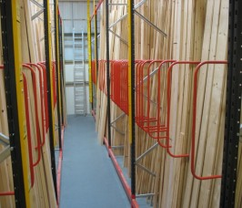 Stakapal offer the facility to Integrating Vertical Storage within a Pallet Racking Frame maximising floor space