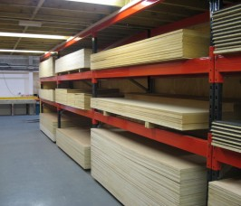 Stakapal adjustable Pallet Racking can be configured to enhance the storage and selection of a range of Panel Products