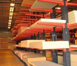 Door Blank Storage on Cantilever Rack
