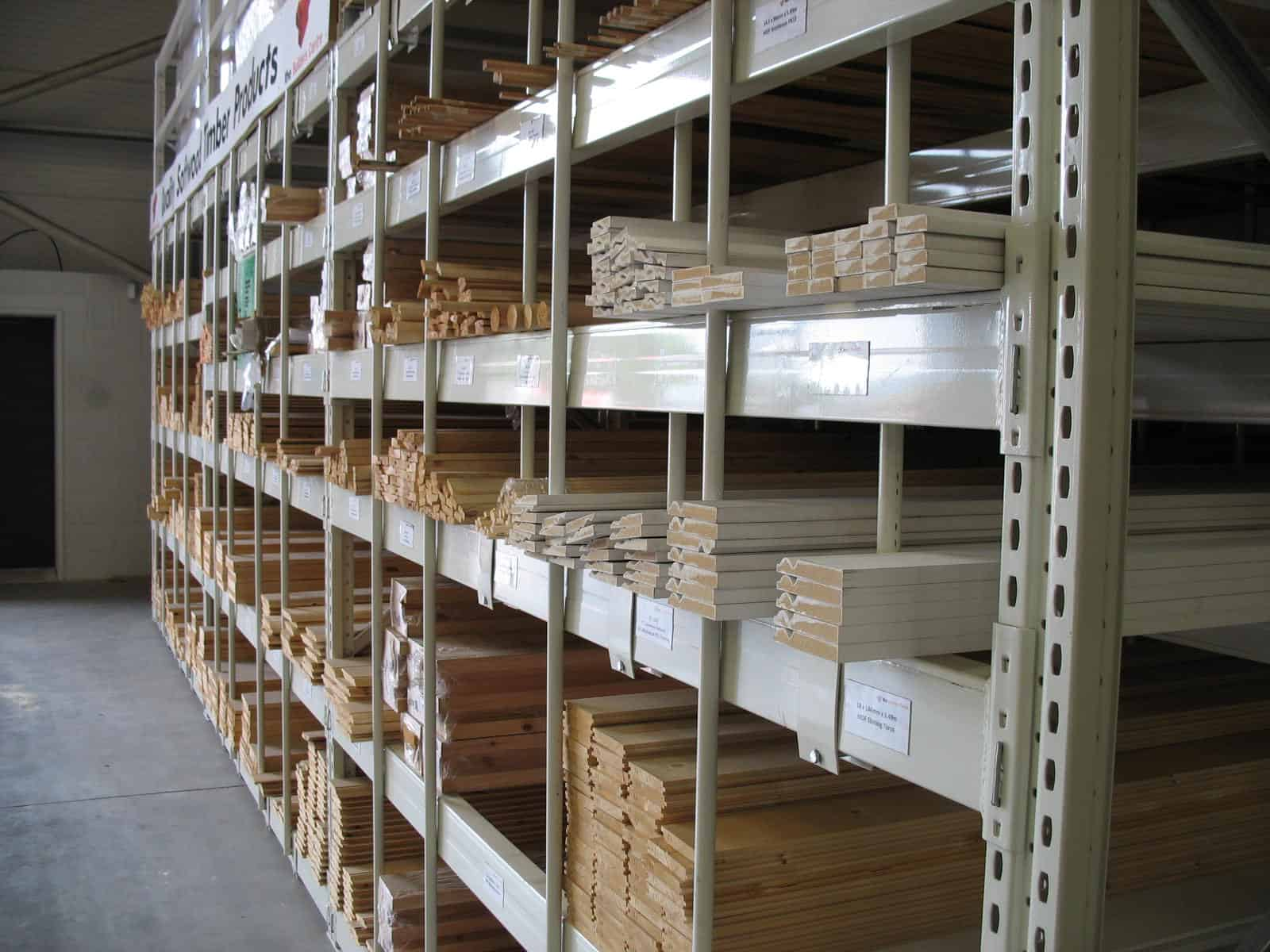 Horizontal Pigeon Hole storage Racking for Softwood Timber