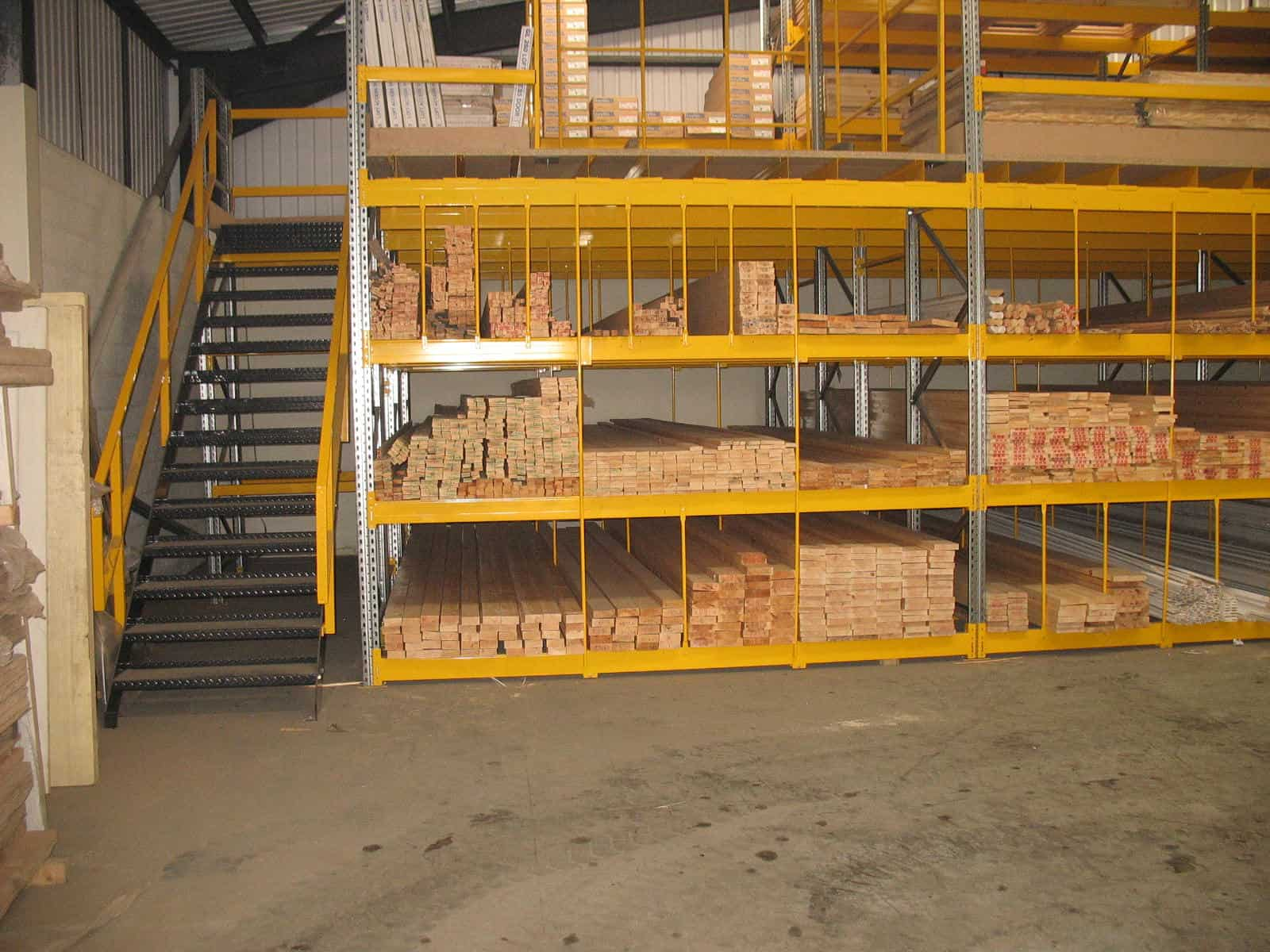 pigeon hole racking for timber merchants