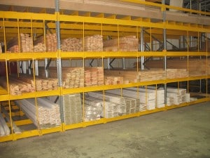 Pigeon Hole Racking is typically utilised for long lengths of Softwood Timber and Hardwood Timber Storage
