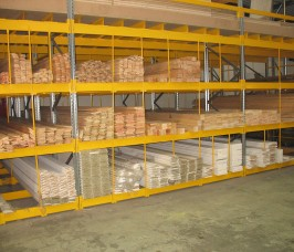 Pigeon Hole Racking offers horizontal storage capacity for a variety of long lengths of Timber Profiles