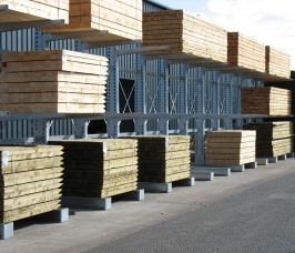 Carcassing Timber Stored on Cantilever Racking