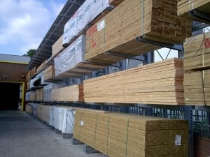 Carcassing Timber Stored on Stakapal Cantilever Racking