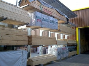 Carcassing Timber Racking with Roof