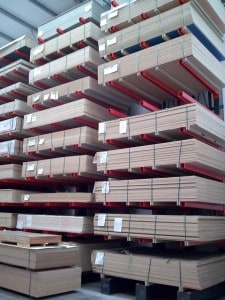 Stakapal Cantilever Racking for Storage of Panel Products and Sheet Materials