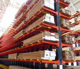 Stakapal Conventional Cantilever Racking offers 100% selectivity for the storage of Hardwood