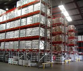 Stakapal Narrow Aisle Pallet Rack maximises Warehousing space
