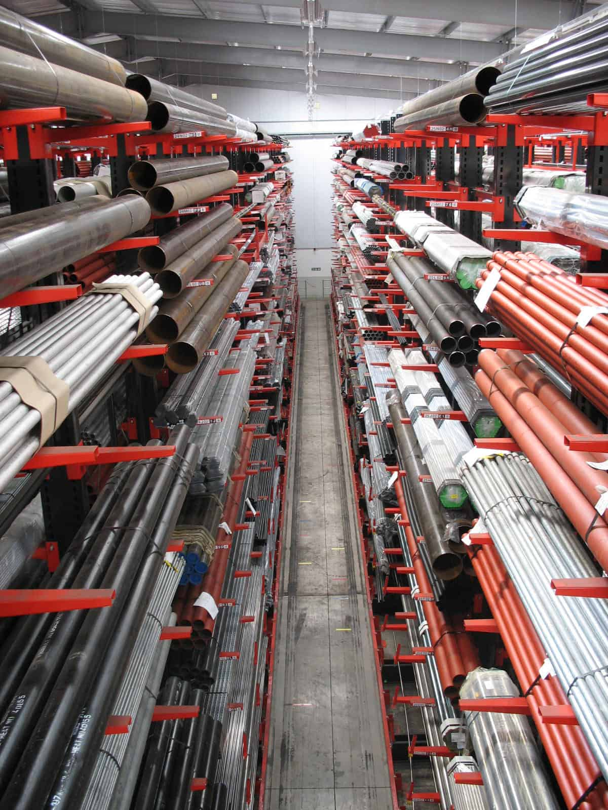 High Bay Cantilever Racking for Steel Pipe and Tube Storage