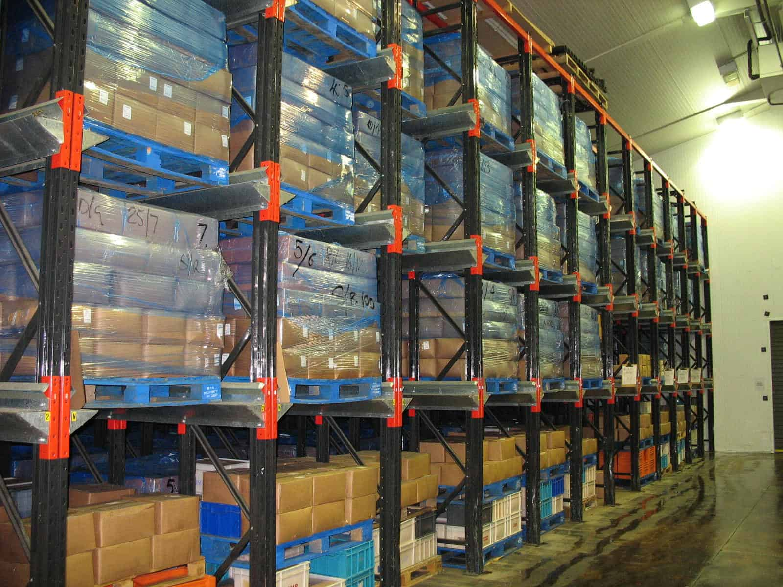 Drive - In Pallet Racking is the ideal Storage Solution for Food and Seasonal goods are