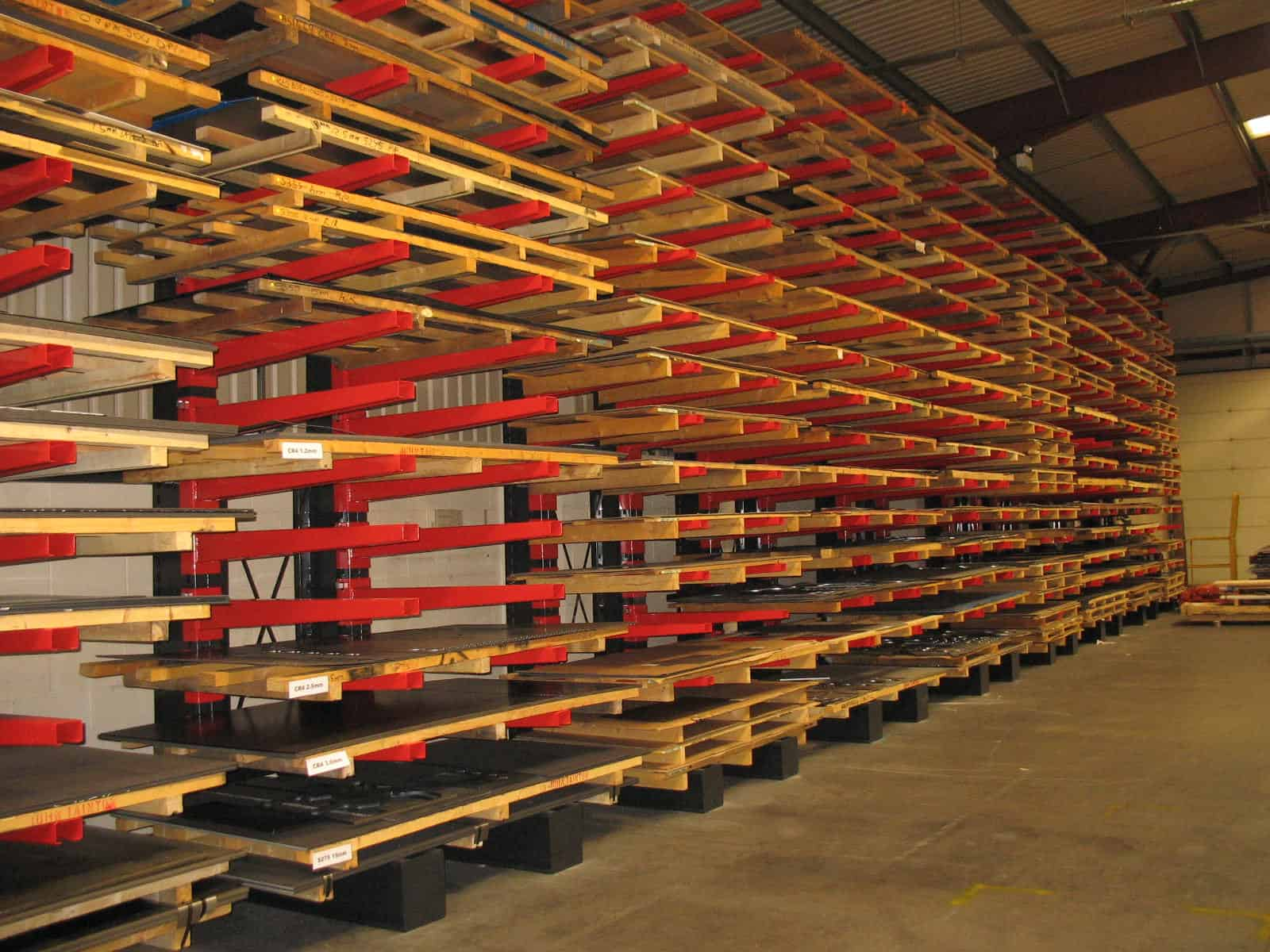Stakapal Cantilever Racking for Storage of Heavy Duty Metal Sheet Materials