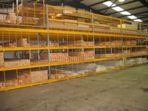 Long lengths of Timber commonly used by the Furniture and Joinery Industry stored in Pigeon Hole Racking