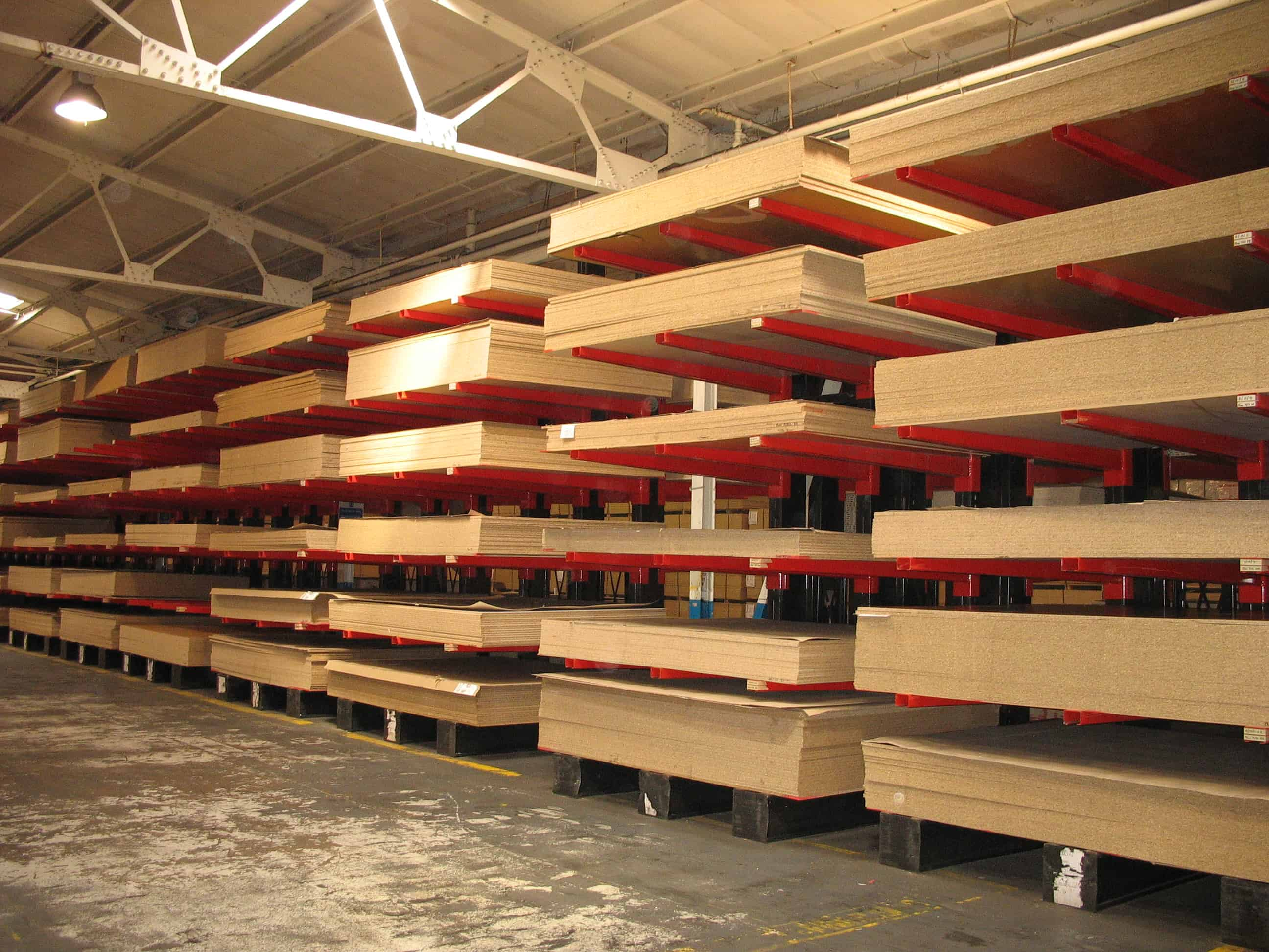 The Furniture and Joinery sector commonly utilise Cantilever Racking for storing Panel related products