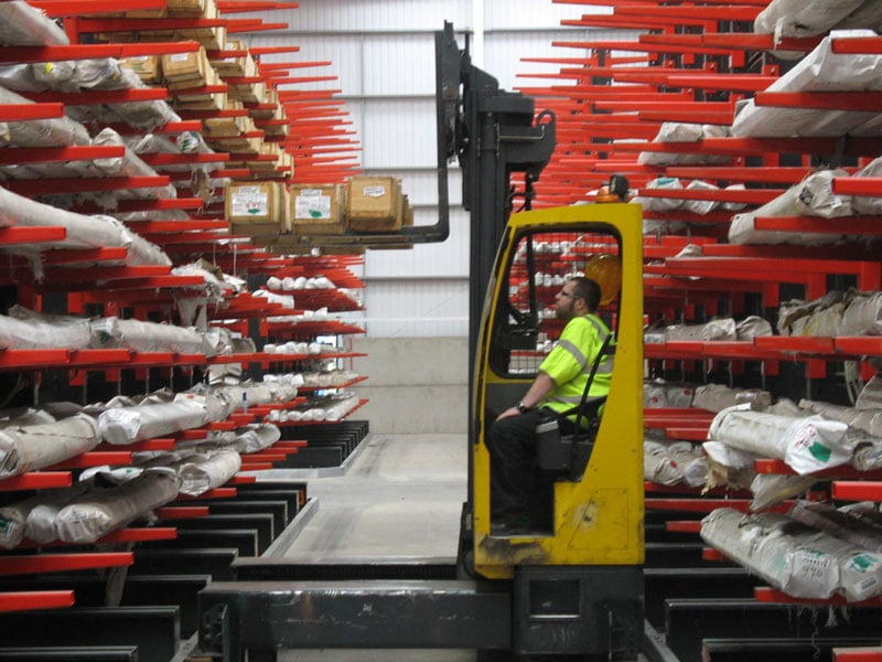 Metals company utilises Guided Aisle Cantilever Racking