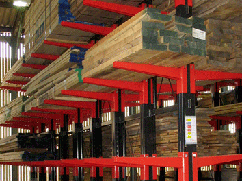 cantilever racking for timber merchants