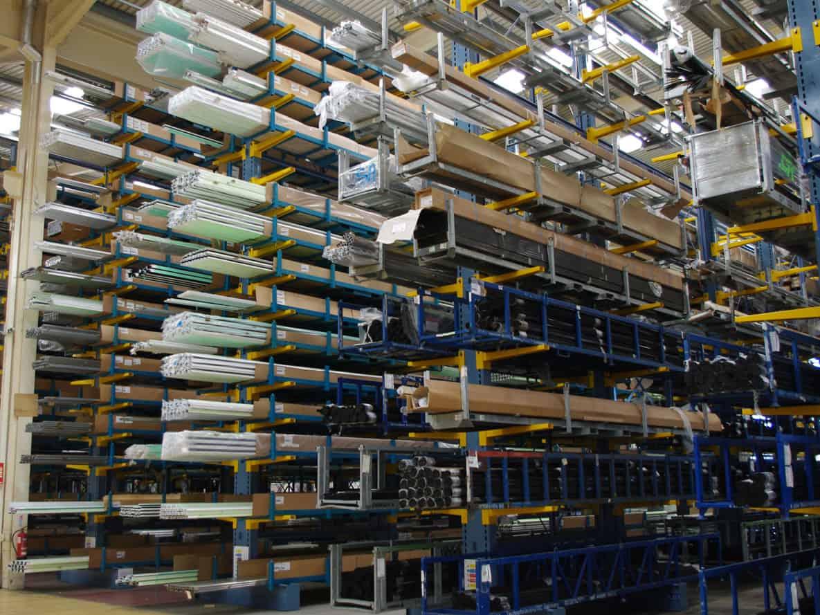 steel tube cantilever racking