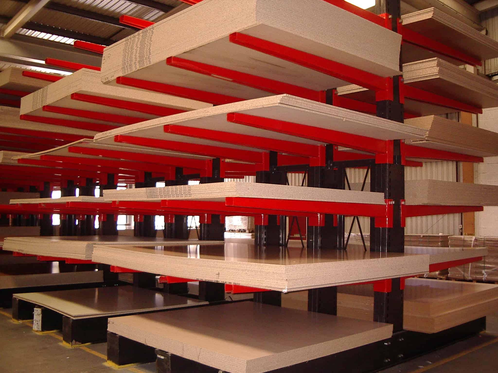 cantilever racking for timber panels