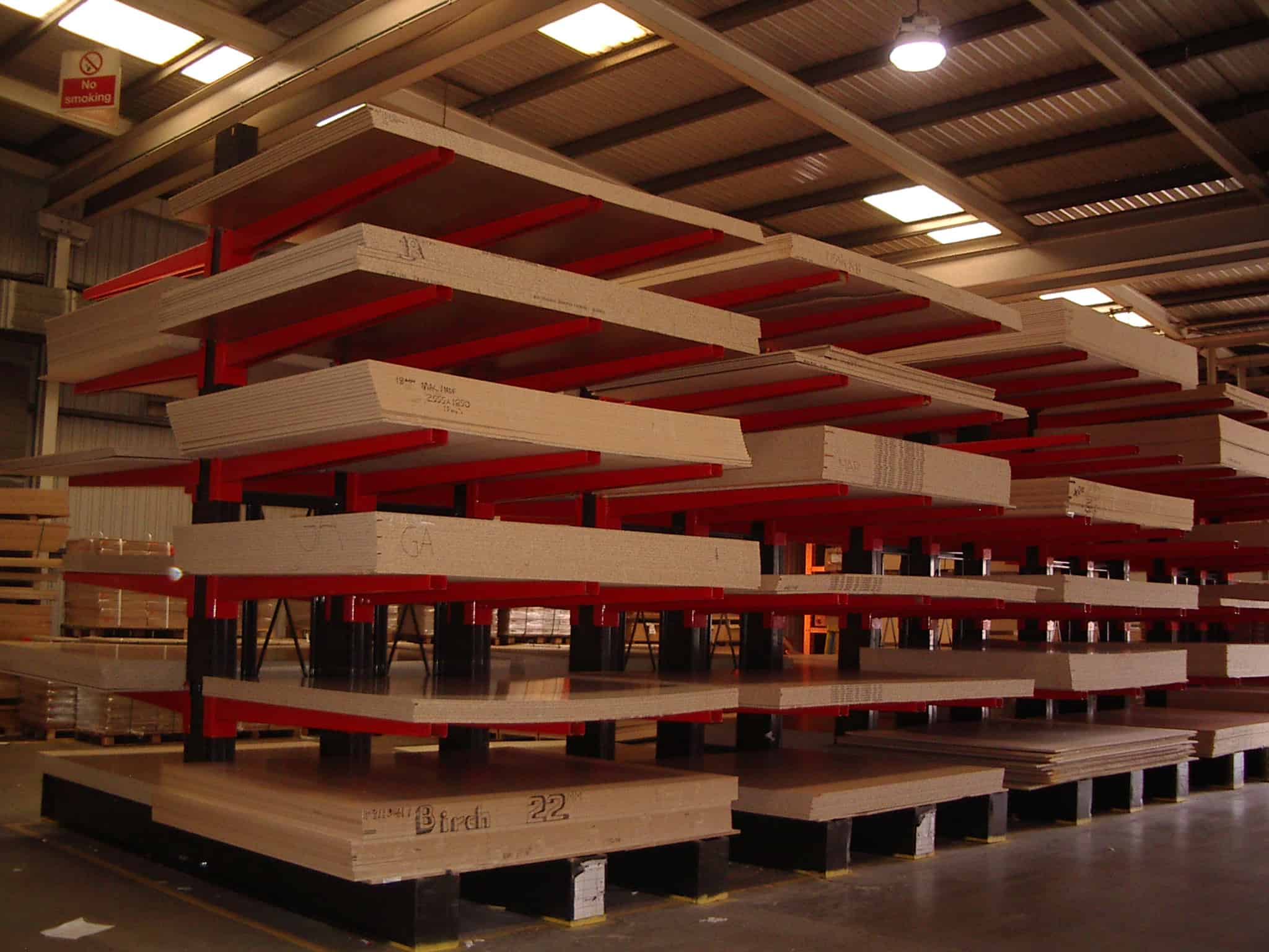 timber panels cantilever racking