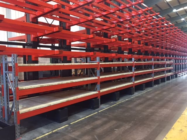 cantilever racking with integrated pallet racking metals storage