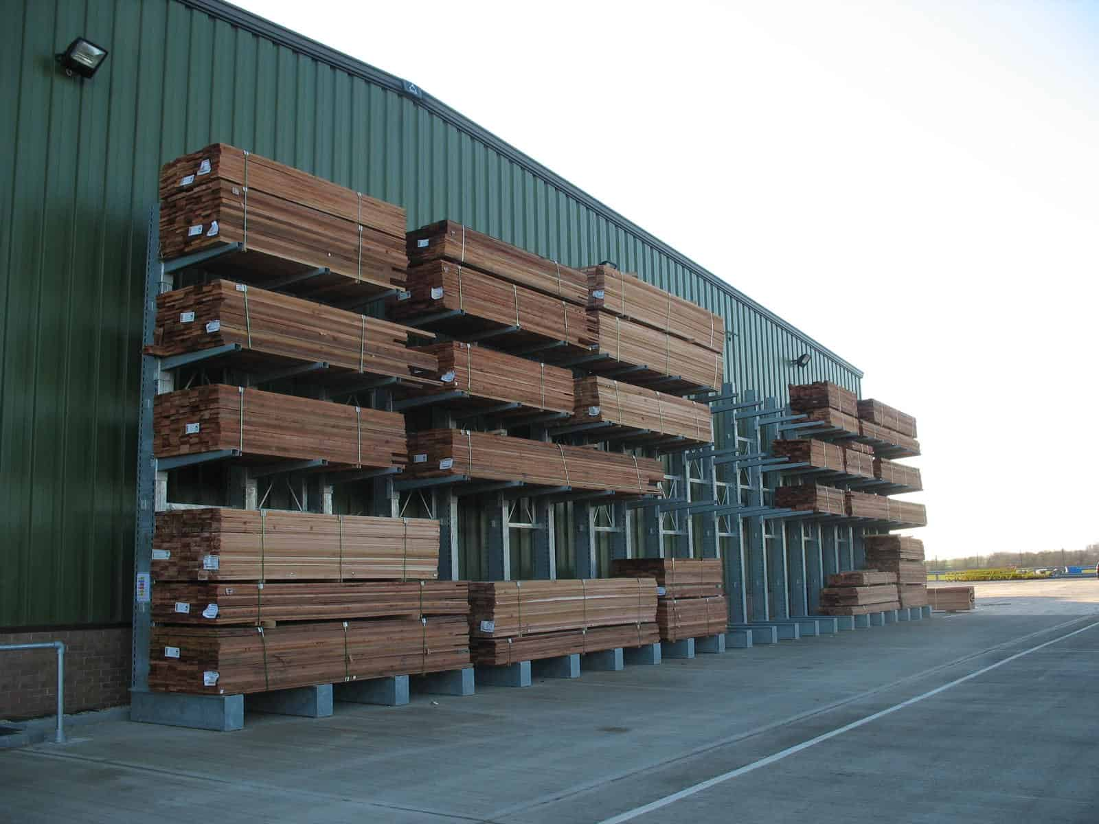 cantilever racking - timber outdoor storage