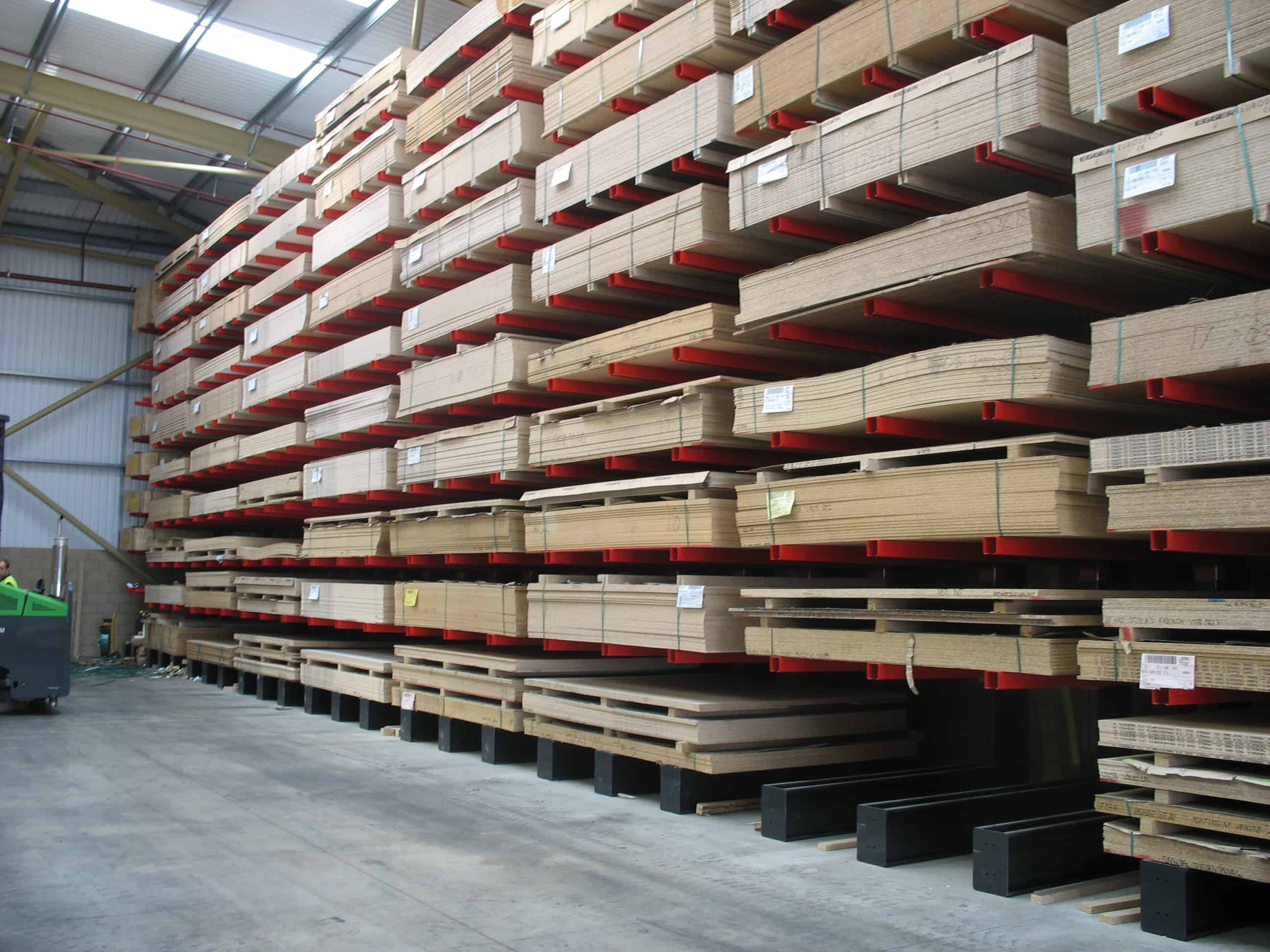 cantilever racking for panel products