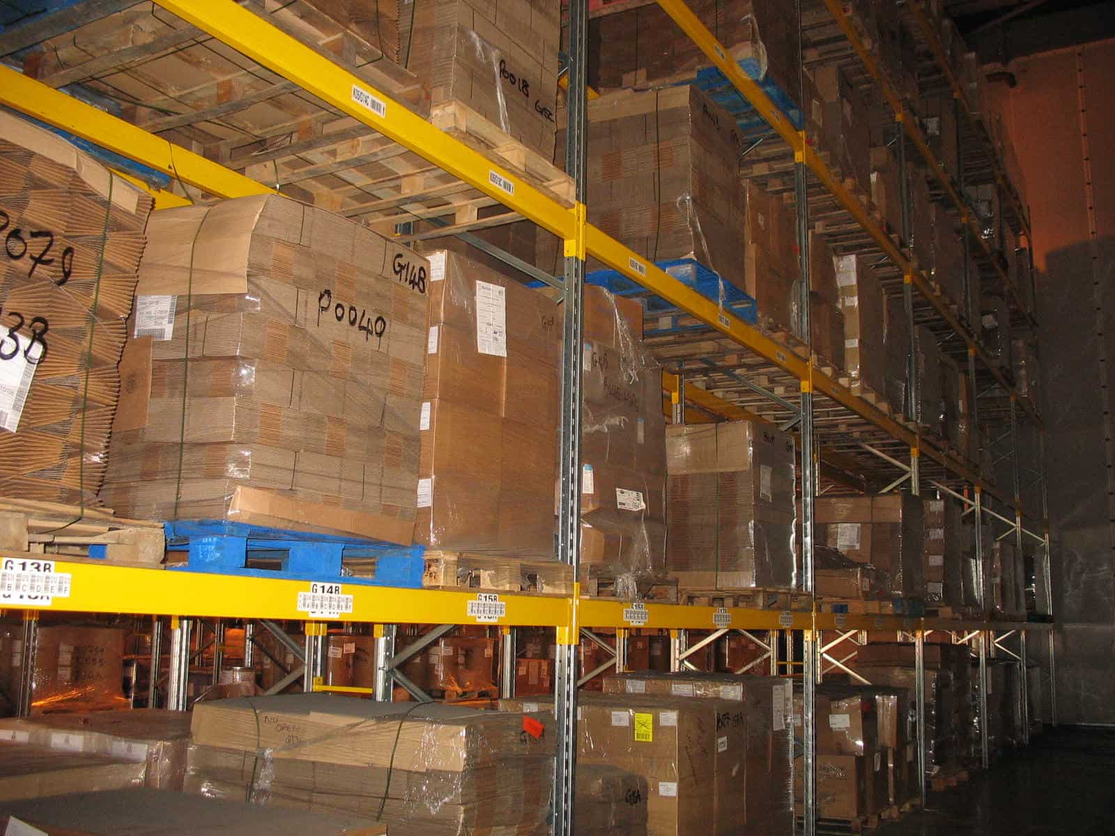 pallet racking for storage