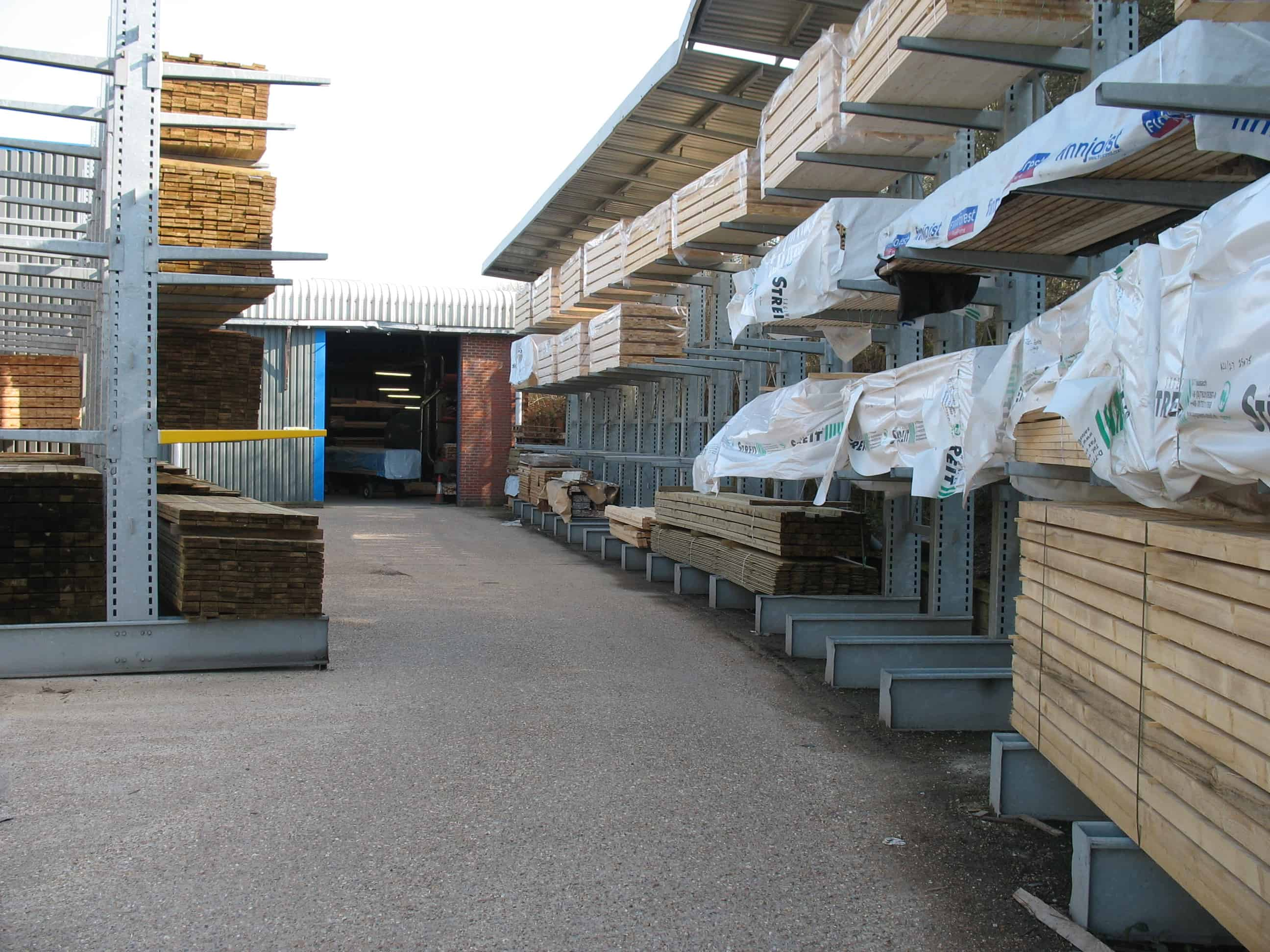 timber merchant cantilever racking