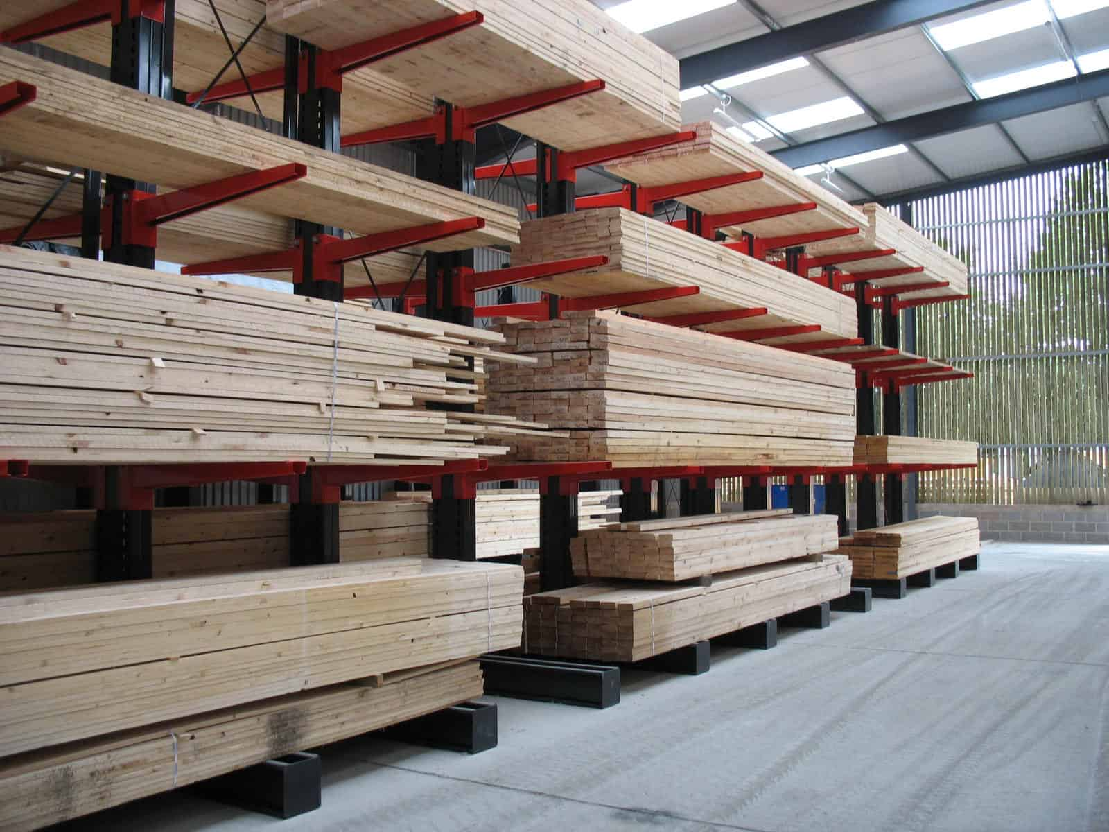 timber merchant pallet racking