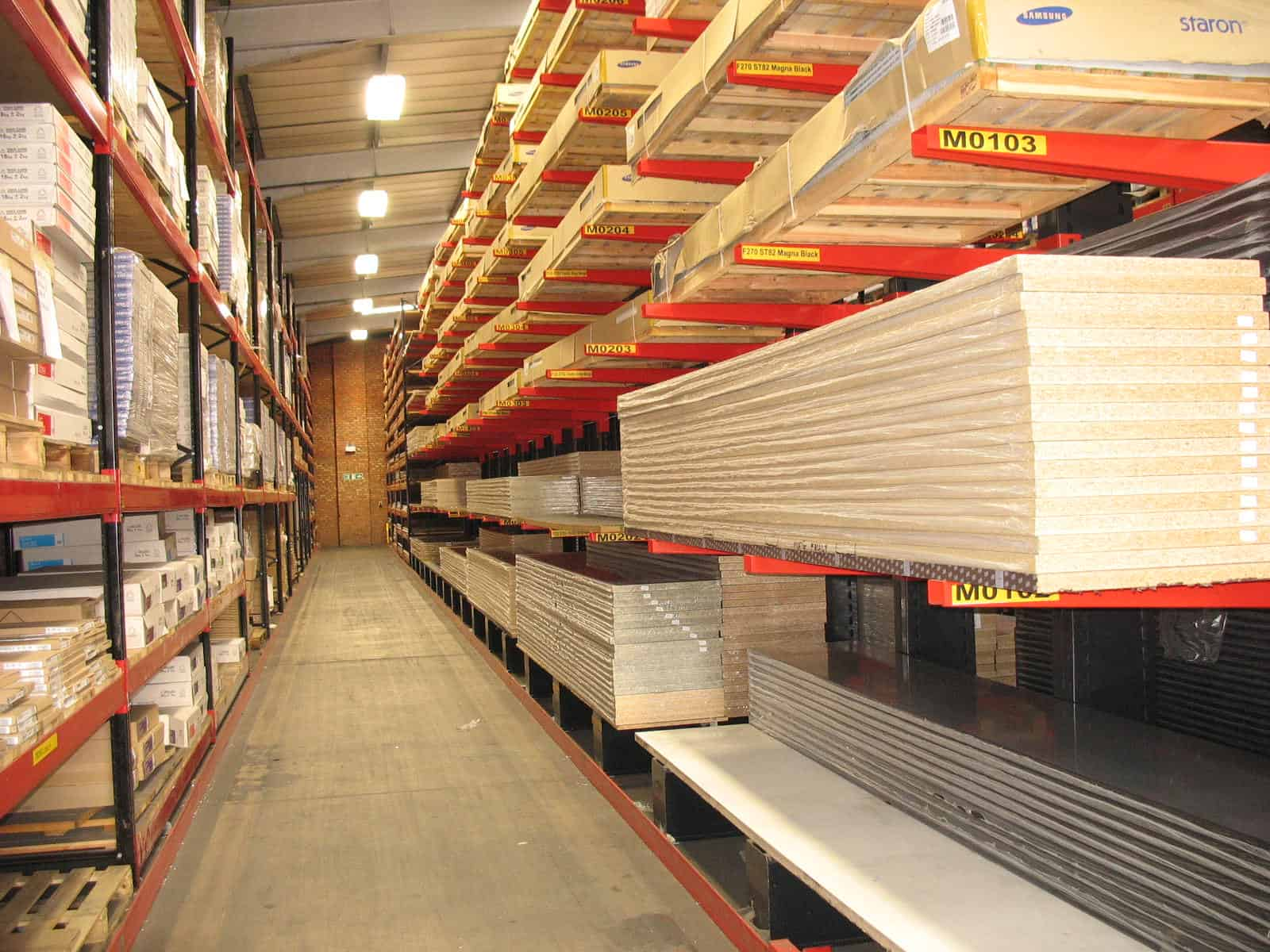 timber panels pallet racking