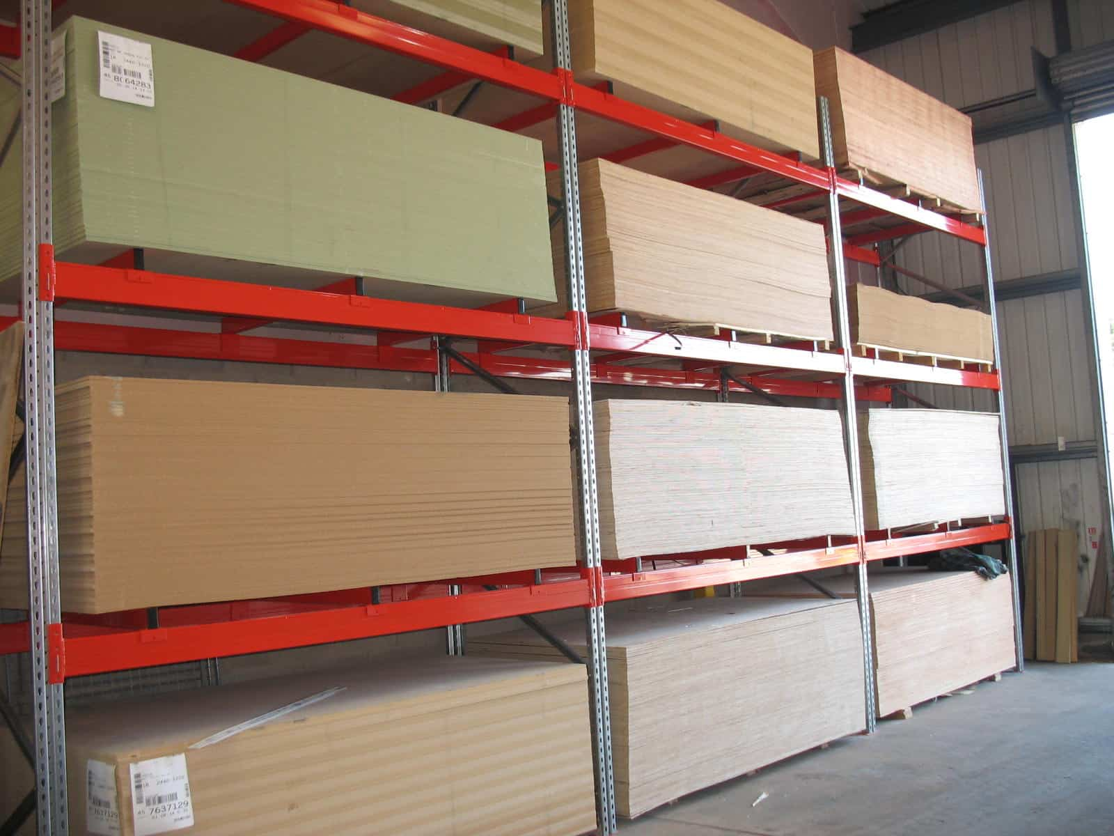 panel products on cantilever racking