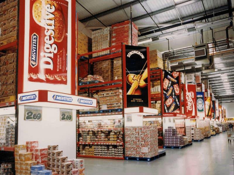 adjustable pallet racking for food storage